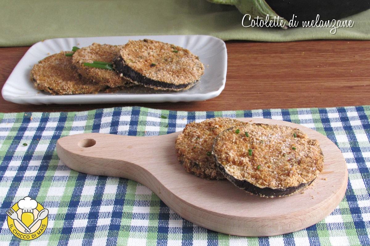 ricette con melanzane cotolette di melanzane al forno ricetta fette di melanzane impanate non fritte il chicco di mais