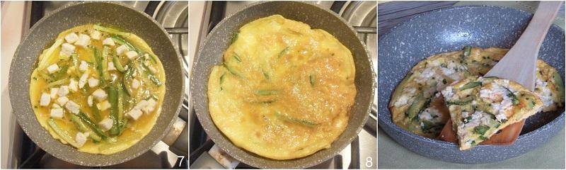 frittata con feta e zucchine ricetta veloce economica il chicco di mais 3 cuocere la frittata