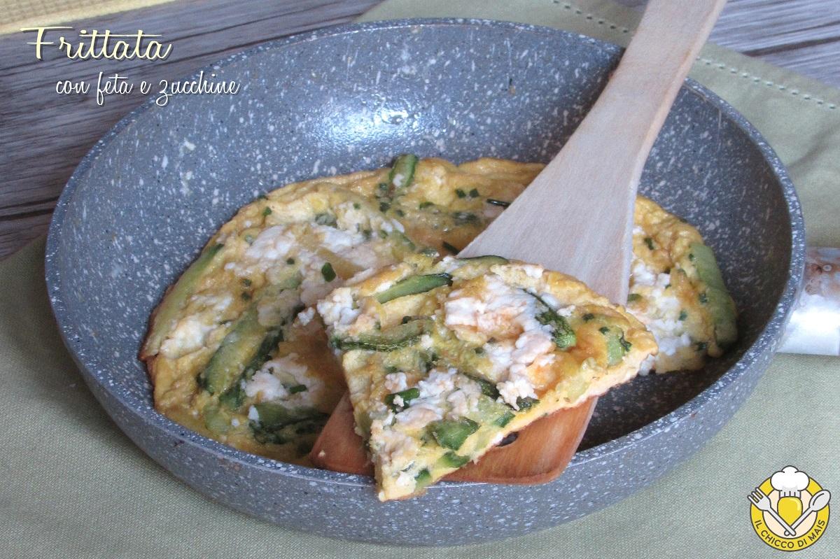 frittata con feta e zucchine ricetta veloce economica il chicco di mais