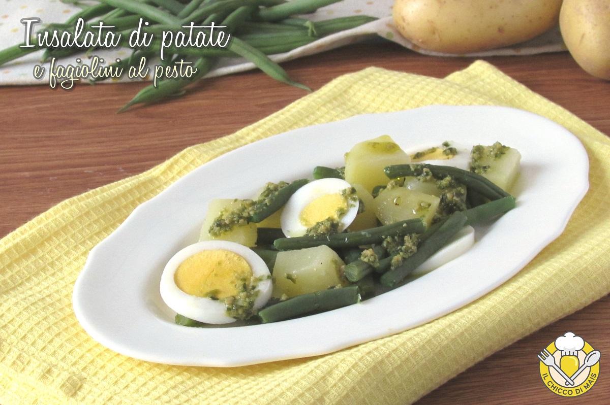 insalata di patate e fagiolini al pesto con uova sode ricette con fagiolini sfiziose il chicco di mais