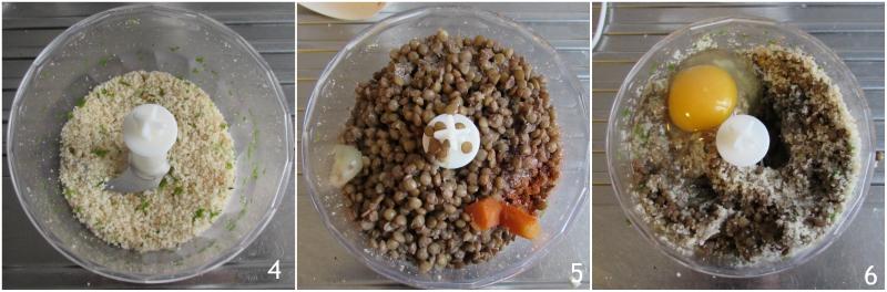 polpettone di lenticchie vegetariano ricetta light senza olio senza grassi al forno il chicco di mais 2 frullare le lenticchie