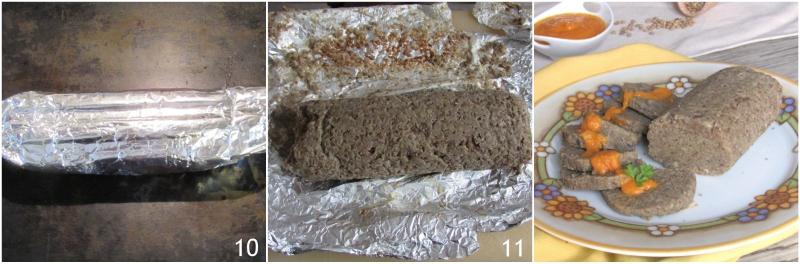 polpettone di lenticchie vegetariano ricetta light senza olio senza grassi al forno il chicco di mais 4 cuocere in forno