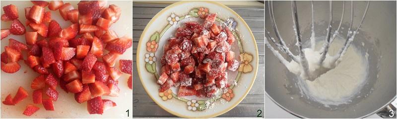 torta morbida alle fragole e ricotta senza burro ricetta dolce soffice alle fragole anche senza glutine il chicco di mais 1 tagliare le frag