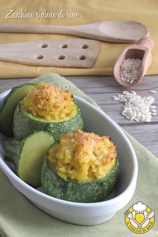 verticale_ zucchine ripiene di riso allo zafferano ricetta con zucchine tonde facile e gustosa il chicco di mais