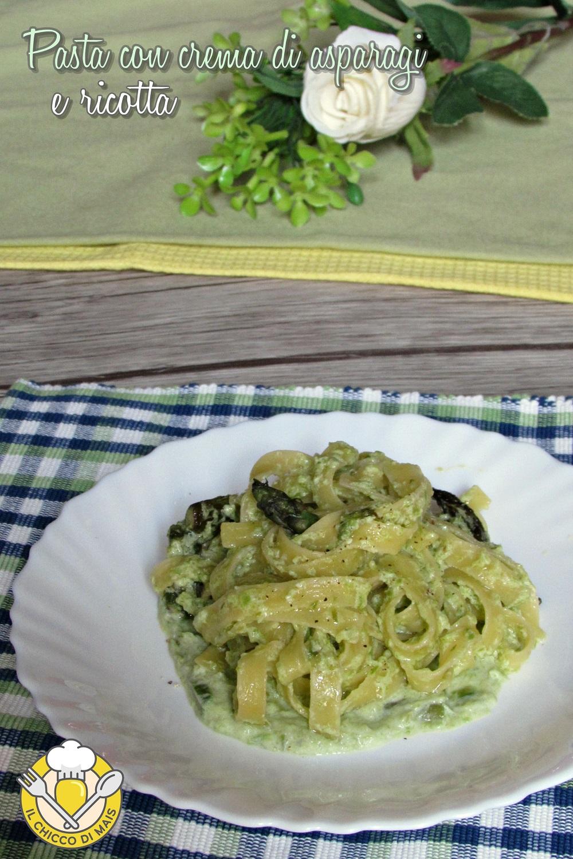 verticale_Pasta con crema di asparagi e ricotta ricetta veloce tagliatelle cremose con asparagi il chicco di mais