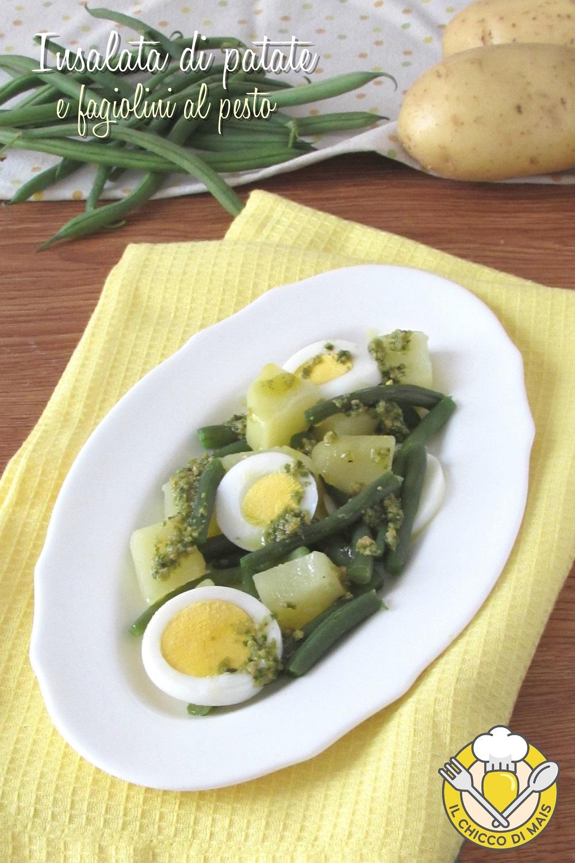 verticale_insalata di patate e fagiolini al pesto con uova sode ricette con fagiolini sfiziose il chicco di mais