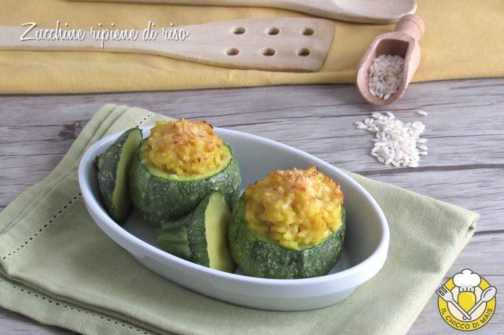 zucchine ripiene di riso allo zafferano ricetta con zucchine tonde facile e gustosa il chicco di mais