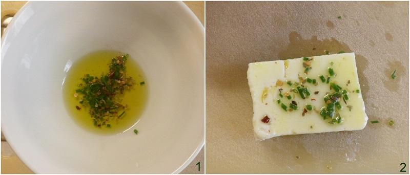 feta alla piastra con erbe e aromi ricetta veloce sfiziosa secondo vegetariano il chicco di mais 1 condire la feta