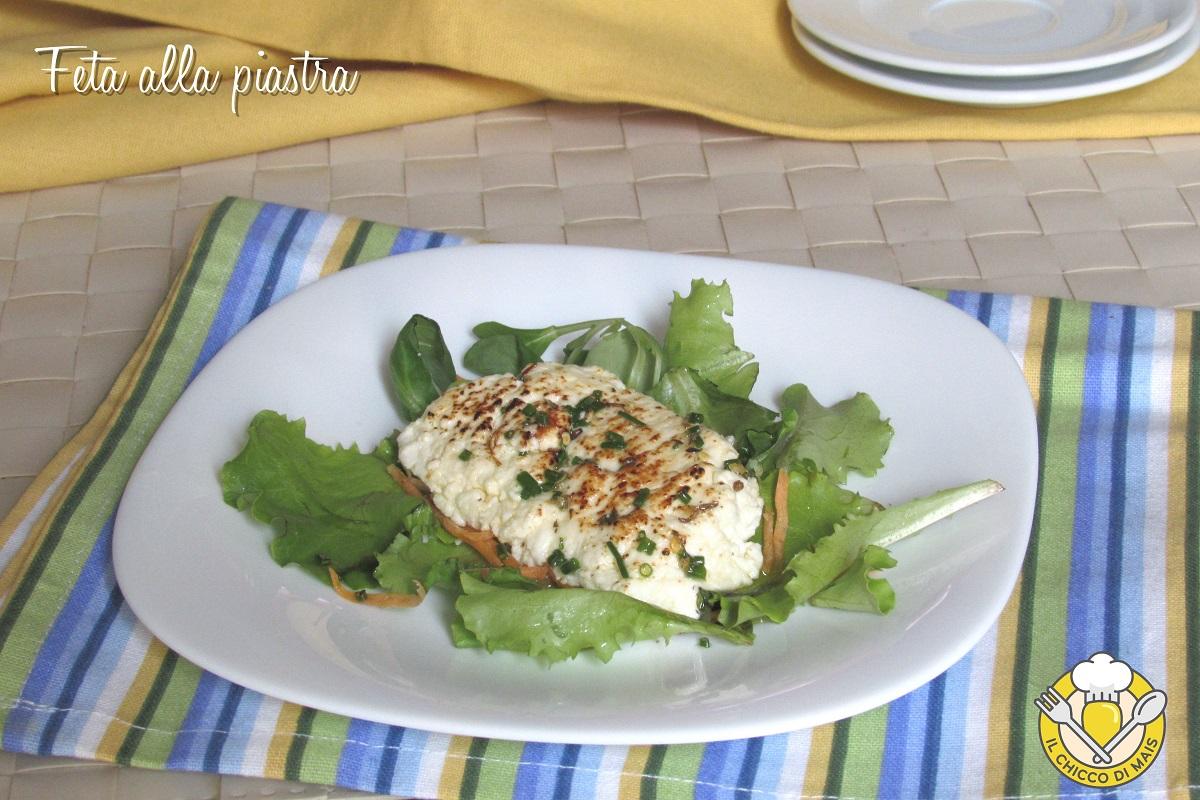 feta alla piastra con erbe e aromi ricetta veloce sfiziosa secondo vegetariano il chicco di mais