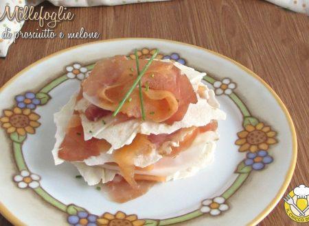 Millefoglie di prosciutto e melone