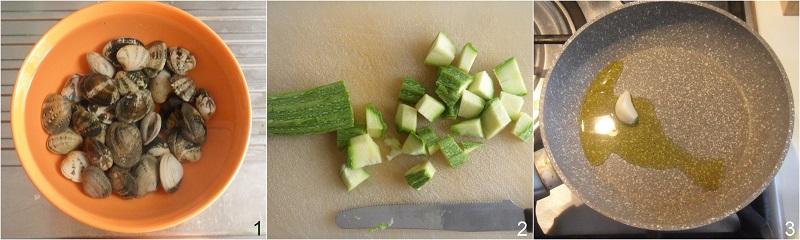 pasta vongole e zucchine ricetta facile primo di pesce il chiccco di mais 1 tagliare le zucchine
