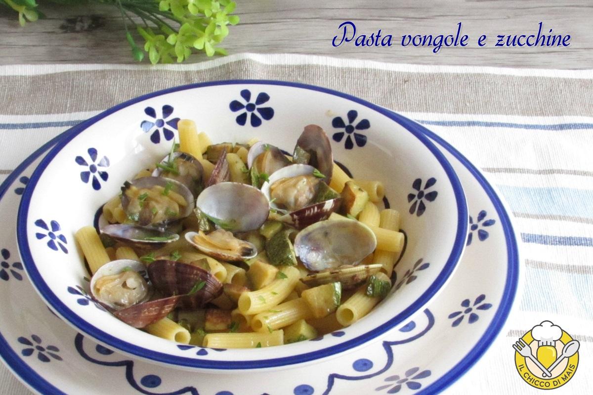 ricette con zucchine pasta vongole e zucchine ricetta facile primo di pesce il chiccco di mais