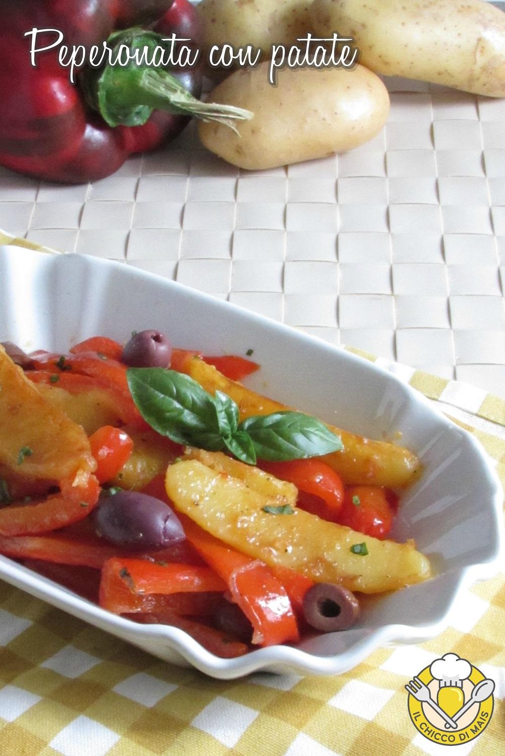 v_ Peperonata con patate e olive ricetta romana estiva il chicco di mais