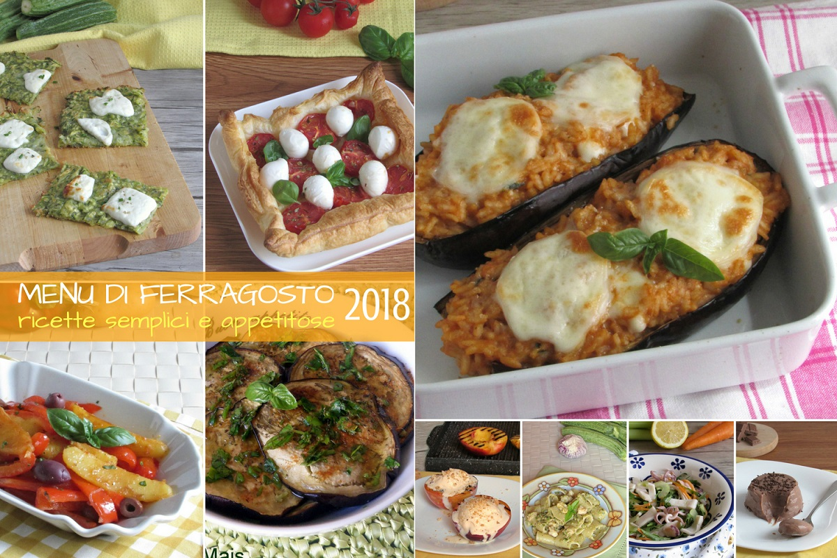 Menu di ferragosto 2018 ricette semplici e appetitose di pesce e vegetariane ricette veloci il chicco di mais
