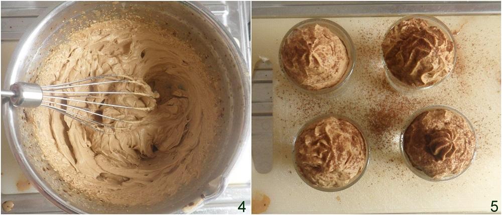 Spumone al caffè ricetta facile e veloce dolce al caffè senza cottura pronto in 5 minuti il chicco di mais 2 montare la crema al caffè