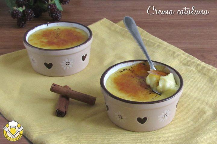 crema catalana ricetta originale di Barcellona crema con crosticina di caramello il chicco di mais