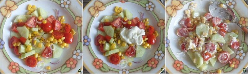 insalata di cetrioli con salsa allo yogurt ricetta light estiva fresca facile veloce il chicco di mais 2 condire l'insalata