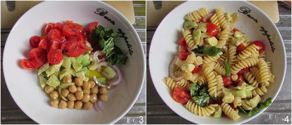pasta fredda con ceci e avocado ricetta light vegan e vegetariana il chicco di mais 2 condire l'insalata di pasta