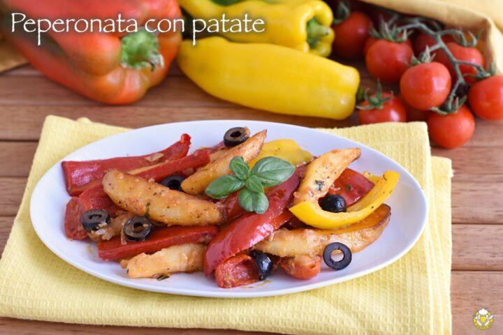 peperonata con patate alla romana ricetta contorno estivo freddo il chicco di mais