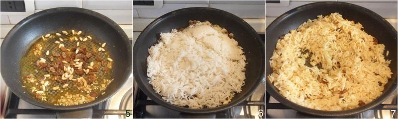 riso saltato al curry con uvetta e pinoli ricetta veloce etnica con basmati il chicco di mais 2 saltare il riso basmati