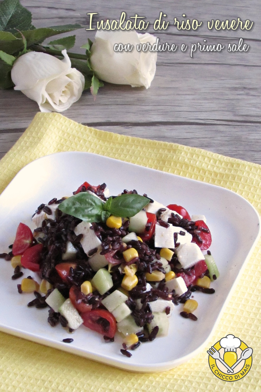 v_ insalata di riso venere con verdure e primo sale ricetta estiva riso venere freddo il chicco di mais