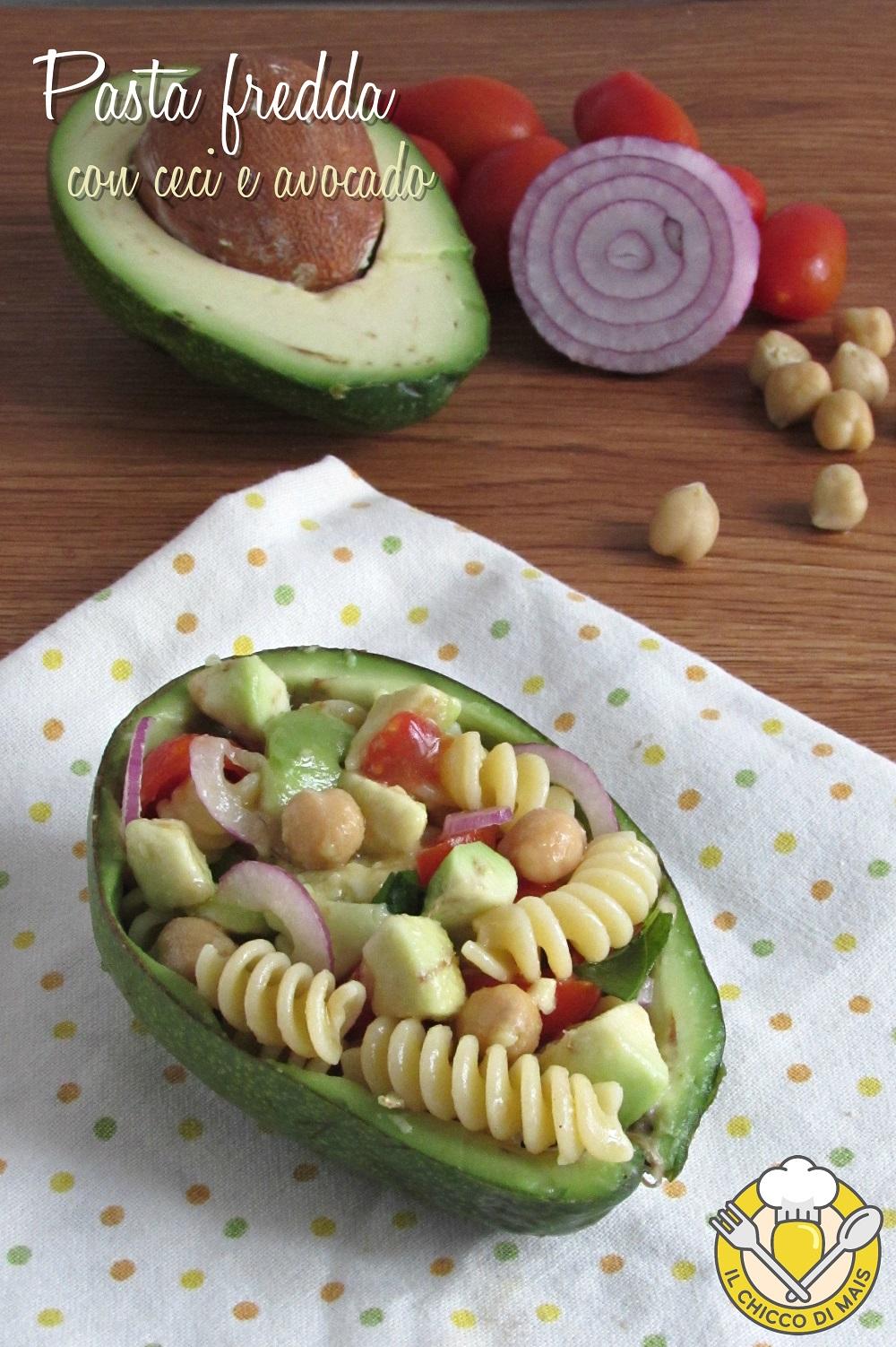 v_ pasta fredda con ceci e avocado ricetta light vegan e vegetariana il chicco di mais