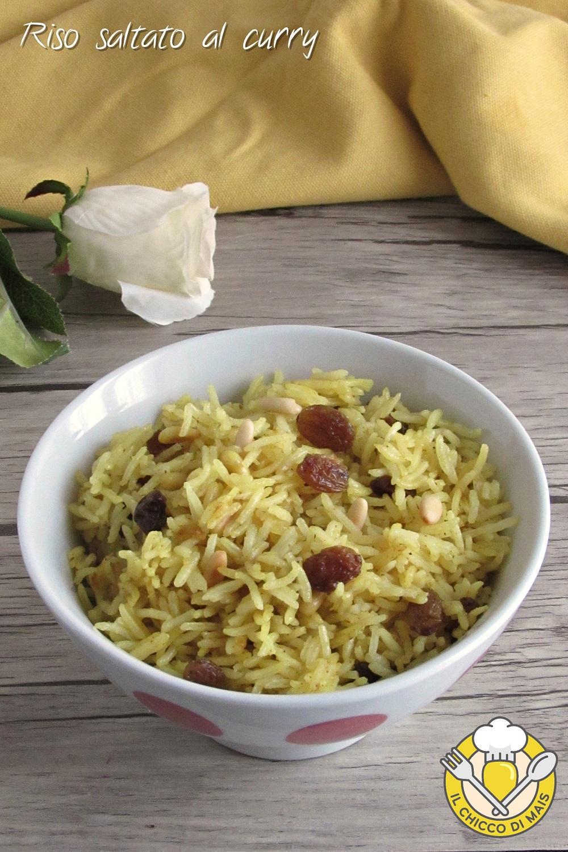 v_ riso saltato al curry con uvetta e pinoli ricetta veloce etnica con basmati il chicco di mais