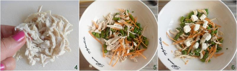 Insalata di pollo con feta e verdure ricetta secondo freddo saporito e leggero il chicco di mais 2 condire insalata