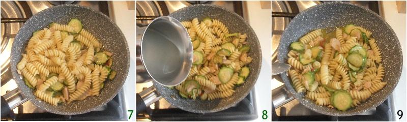 Pasta zucchine e tonno in bianco ricetta facile e veloce il chicco di mais 3 mantecare la pasta