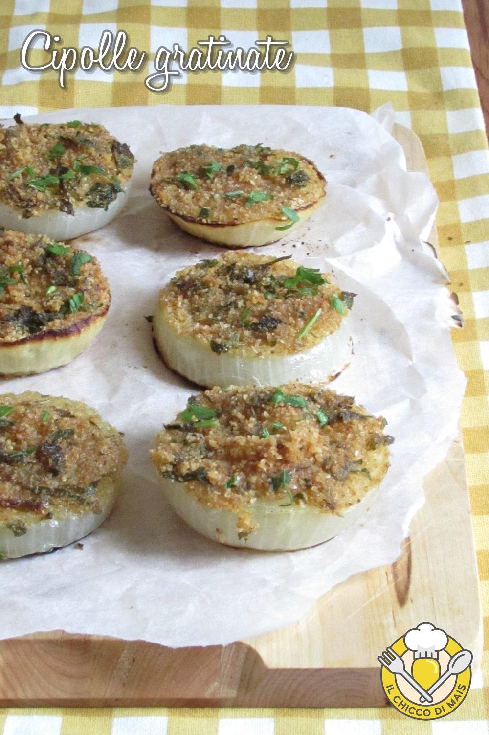 V_ cipolle gratinate al forno a fette con pangrattato e erbe aromatiche ricetta light il chicco di mais