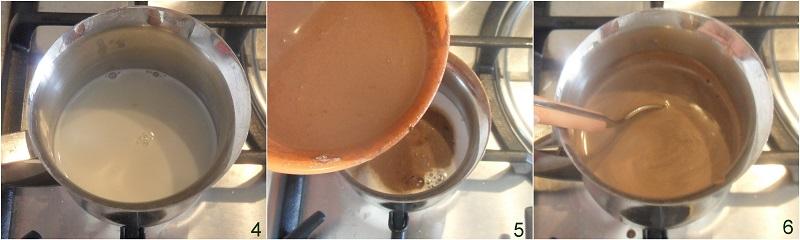 budino al cacao facile ricetta senza burro senza uova senza gelatina il chicco di mais 2 unire al latte