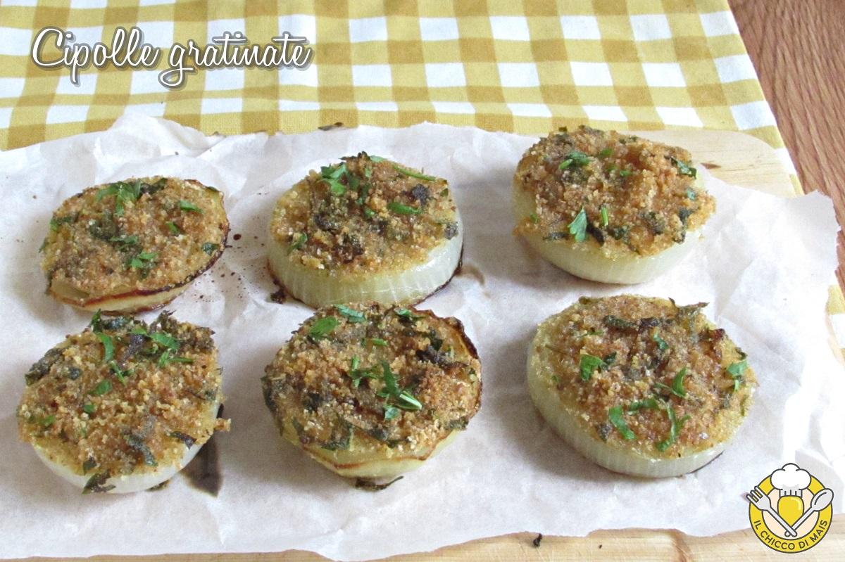 cipolle gratinate al forno a fette con pangrattato e erbe aromatiche ricetta light il chicco di mais