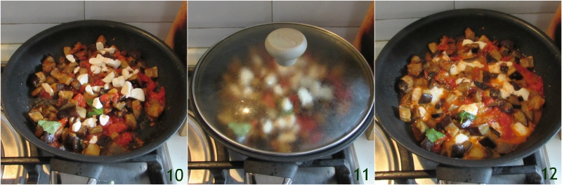 melanzane alla pizzaiola in padella con pomodoro e mozzarella filante ricetta contorno facile il chicco di mais 4 unire la mozzarella
