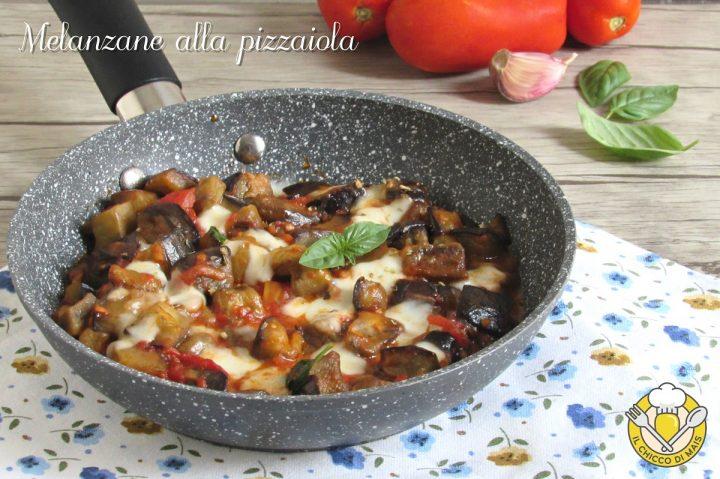 melanzane alla pizzaiola in padella con pomodoro e mozzarella filante ricetta contorno facile il chicco di mais