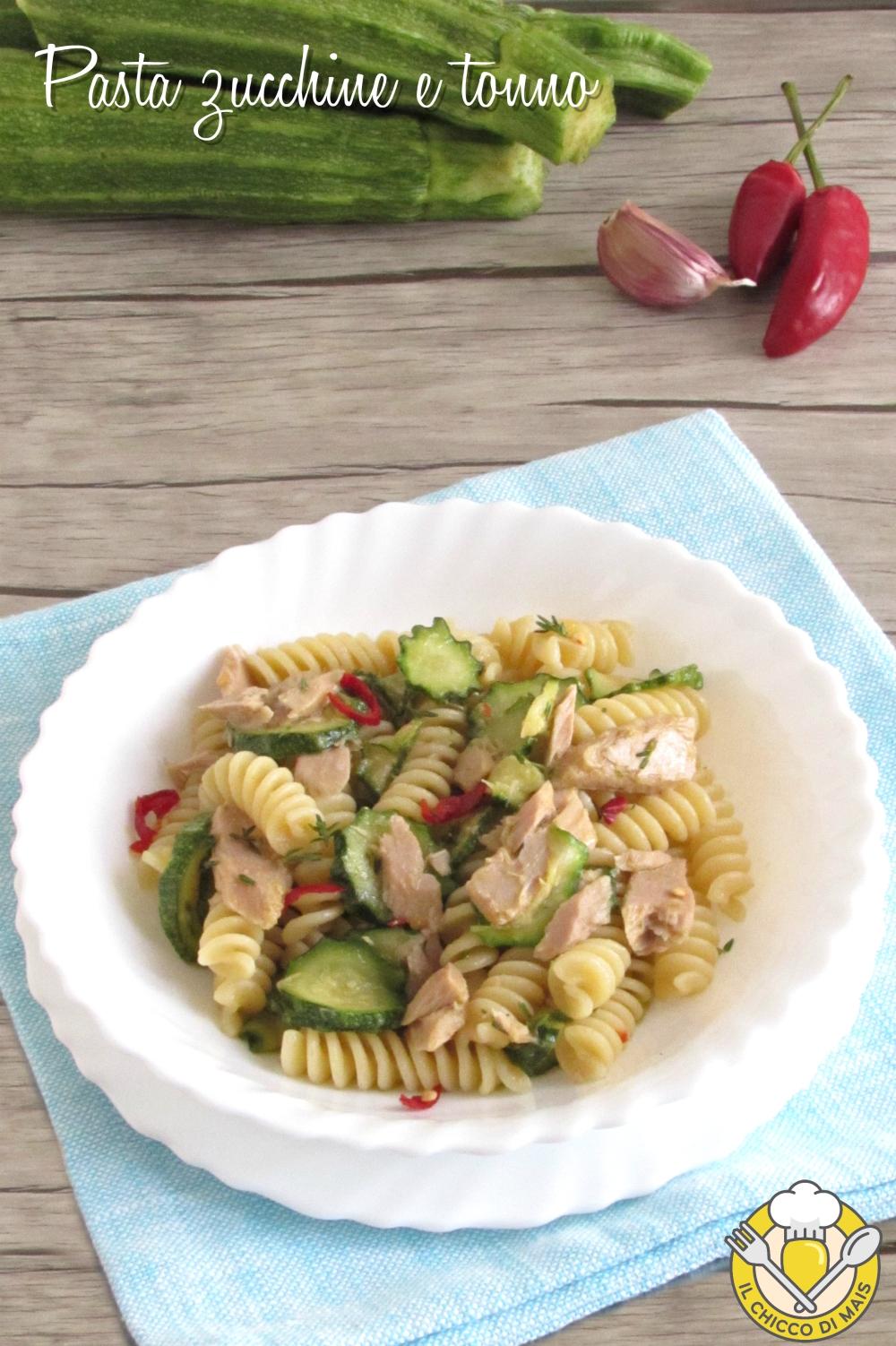 v_ Pasta zucchine e tonno in bianco ricetta facile e veloce il chicco di mais