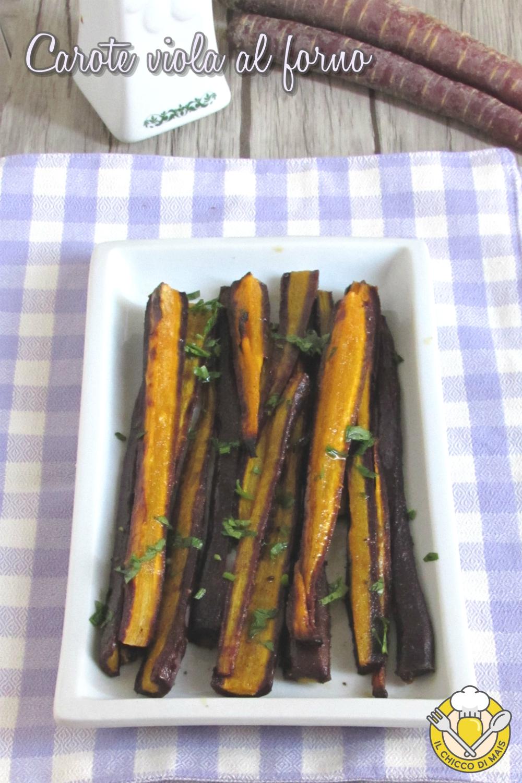 v_ carote viola al forno ricetta light facile e veloce antipasto o contorno vegano il chicco di mais