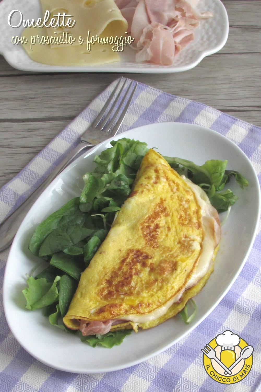 v_omelette con prosciutto e formaggio filante ricetta senza latte il chicco di mais