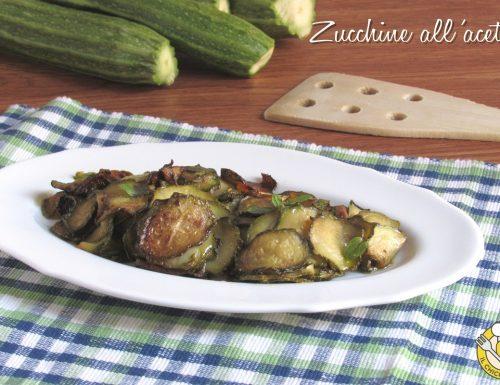Zucchine all'aceto