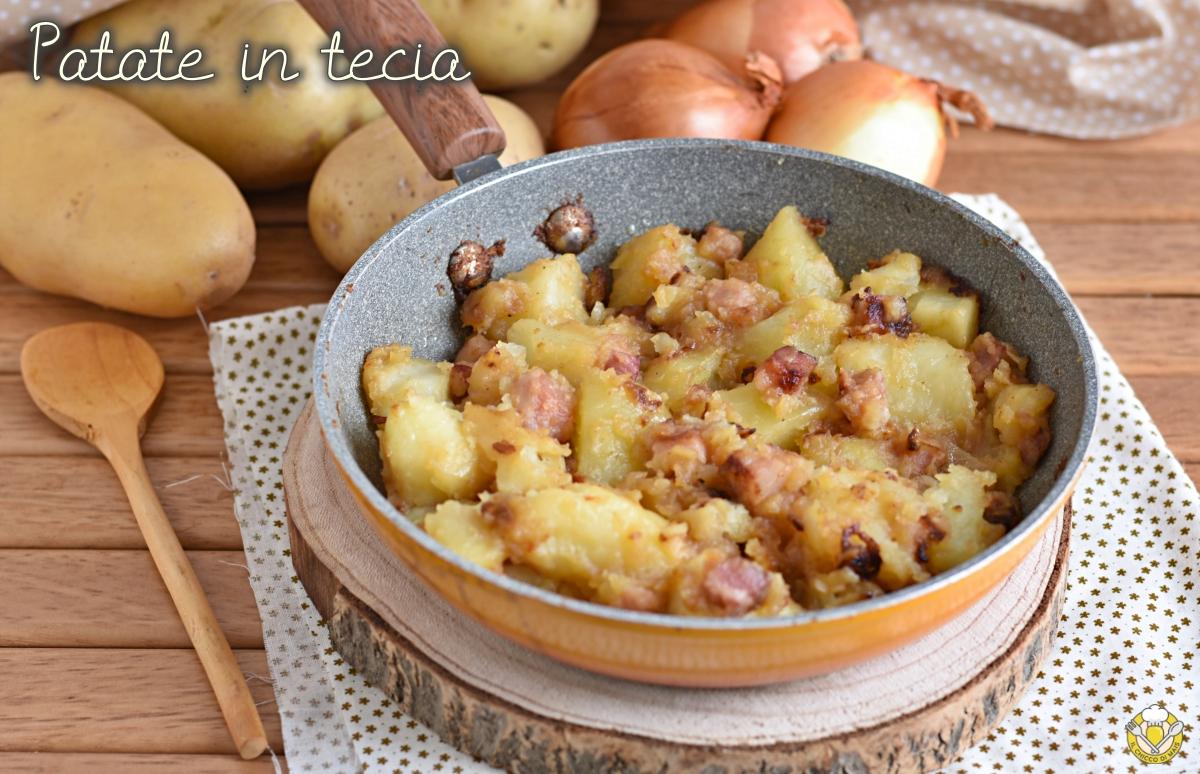 patate in tecia alla triestina ricetta tradizionale patate in padella con cipolla e pancetta il chicco di mais
