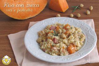 ricette con la zucca riso con zucca ceci e pancetta ricetta facile autunnale risotto senza burro il chicco di mais