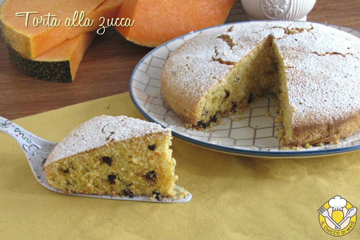 torta alla zucca grattugiata con gocce di cioccolato ricetta dolce soffice da colazione il chicco di mais