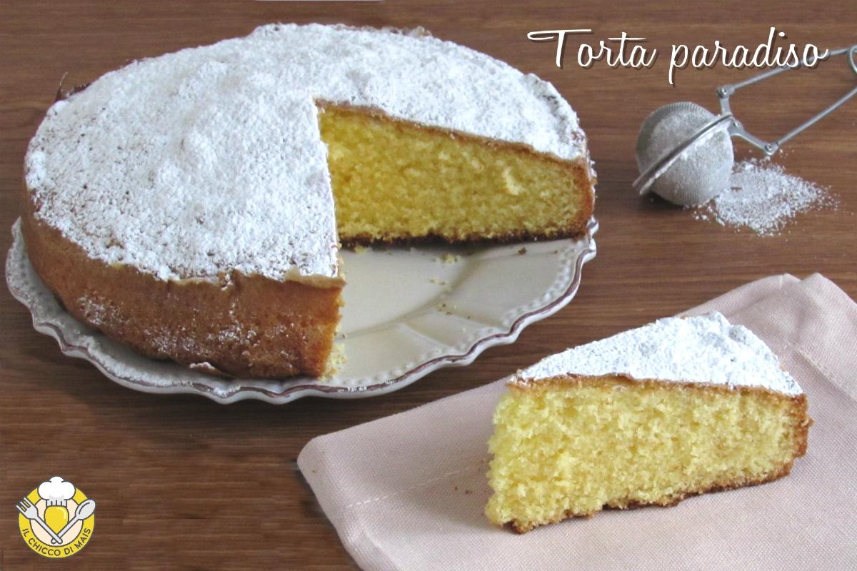 torta paradiso ricetta originale con impasto soffice e che si scioglie in bocca il chicco di mais