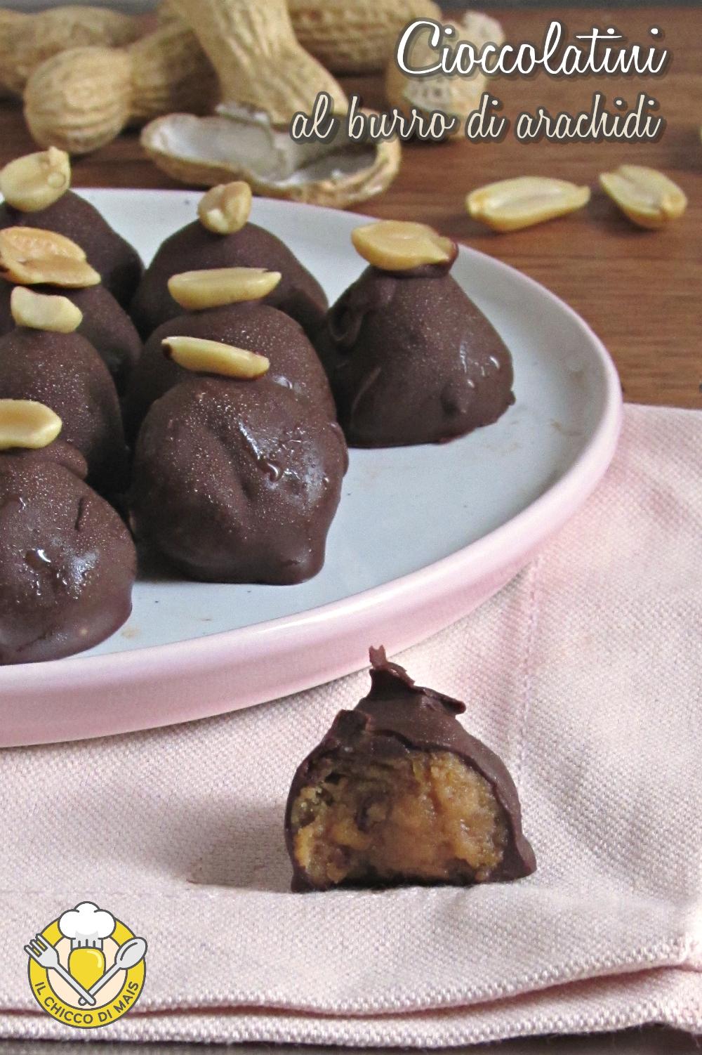 v_ cioccolatini al burro di arachidi ricetta dolcetti facili e senza cottura il chicco di mais