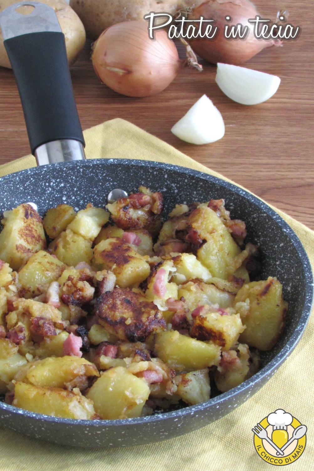 v_ patate in tecia ricetta friulana di trieste patate lesse in padella con pancetta e cipolla il chicco di mais