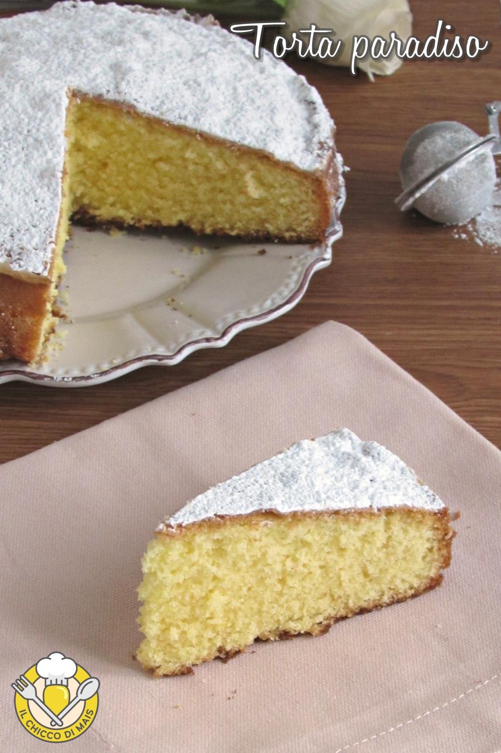 v_ torta paradiso ricetta originale con impasto soffice e che si scioglie in bocca il chicco di mais