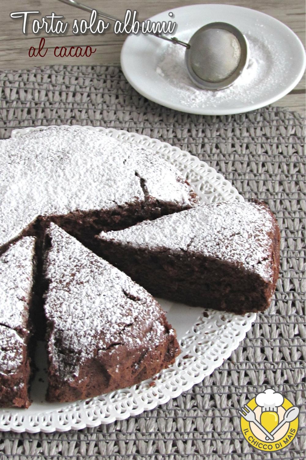 v_ torta solo albumi al cacao ricetta dolce soffice per usare albumi avanzati il chicco di mais