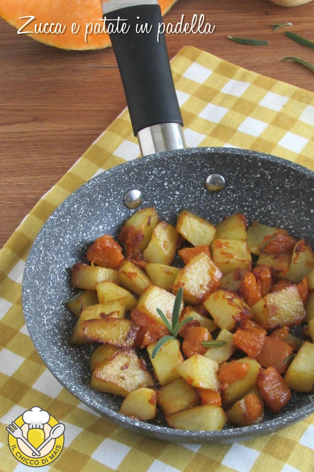 v_ zucca e patate in padella ricetta con la zucca facile contorno veloce e appetitoso il chicco di mais