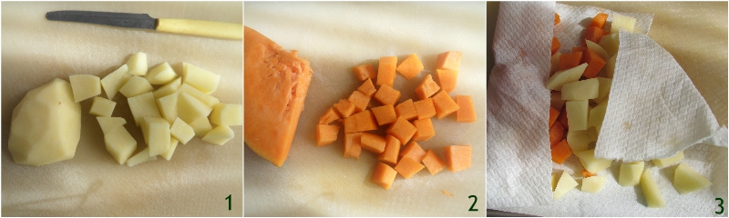 zucca e patate in padella ricetta con la zucca facile contorno veloce e appetitoso il chicco di mais 1 tagliare le verdure
