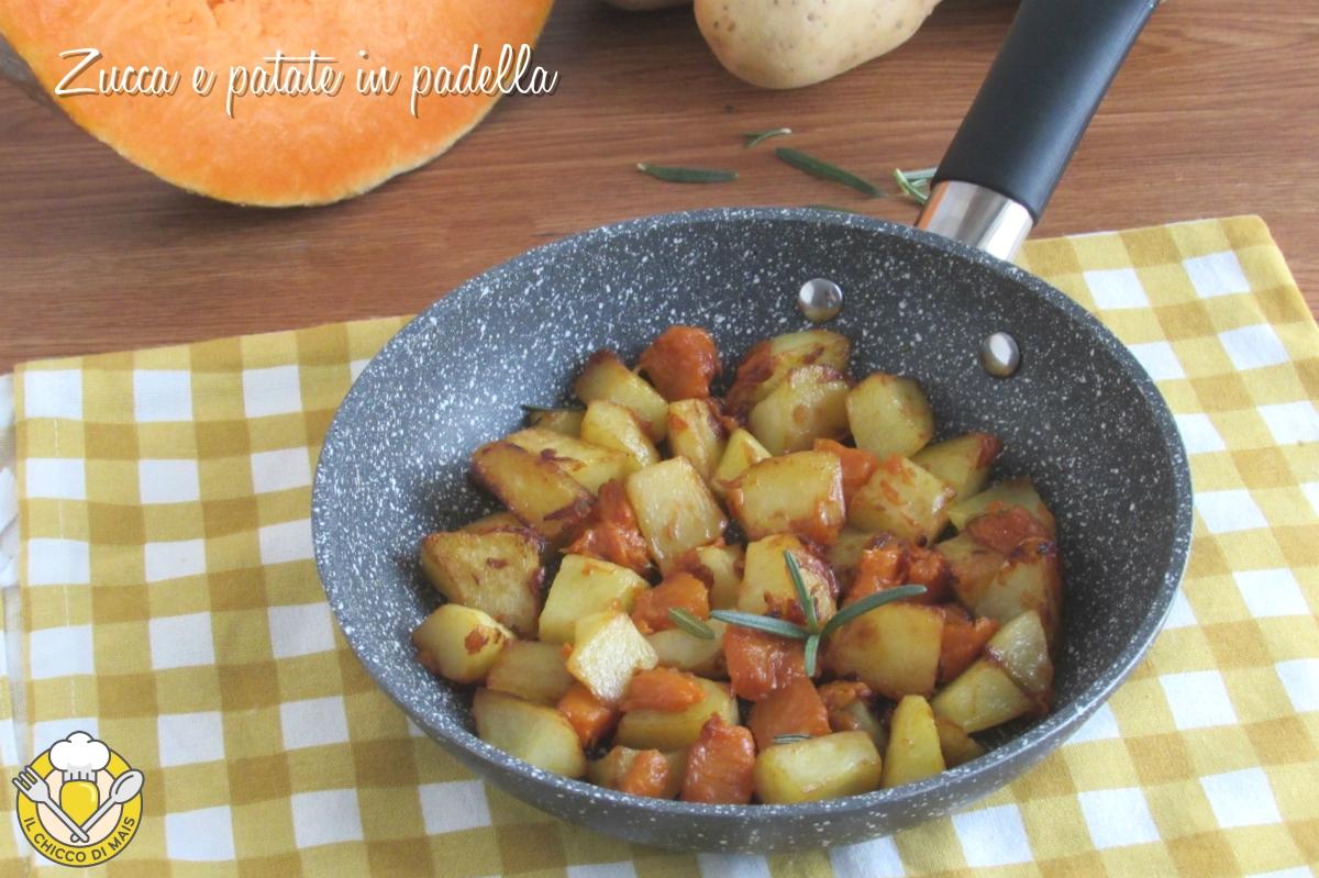 zucca e patate in padella ricetta con la zucca facile contorno veloce e appetitoso il chicco di mais