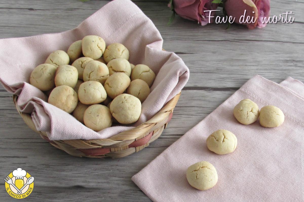 Fave dei morti ricetta romana laziale biscotti alle mandrle del 2 novembre il chicco di mais
